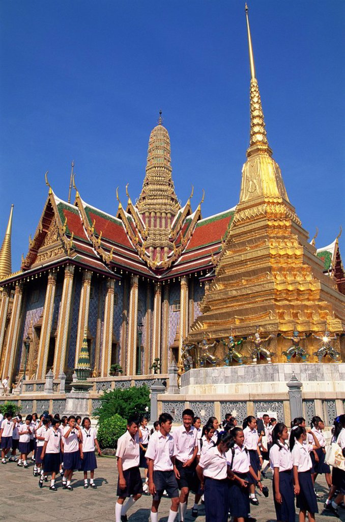 Thailand, Bangkok, Wat Phra Kaew, Grand Palace : Stock Photo