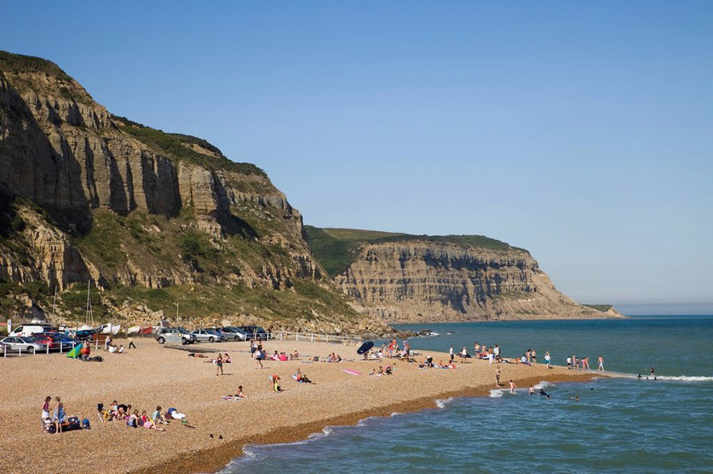 England, East Sussex, Hastings, Hastings Beach : Stock Photo