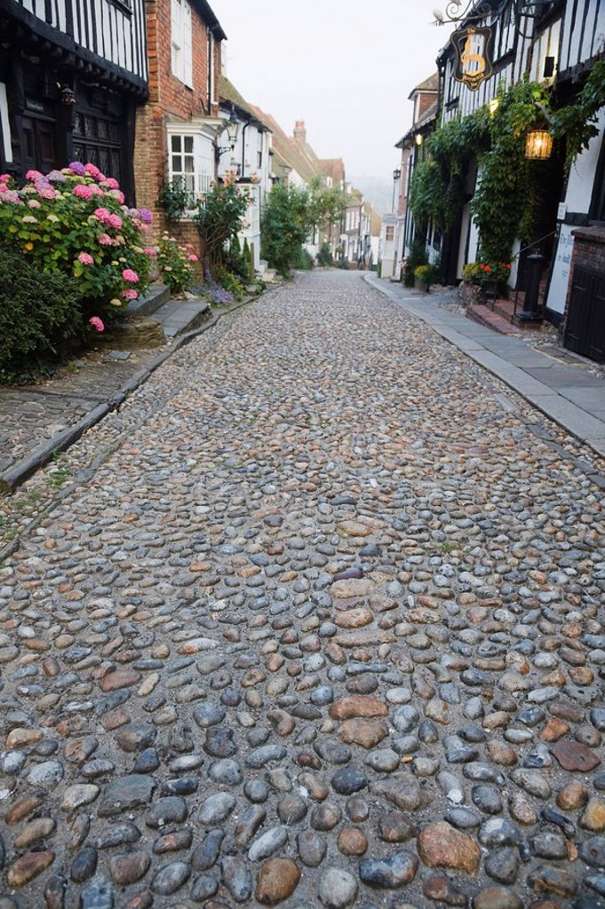 Stock Photo: 1609-41922 England, East Sussex, Rye, Mermaid Street