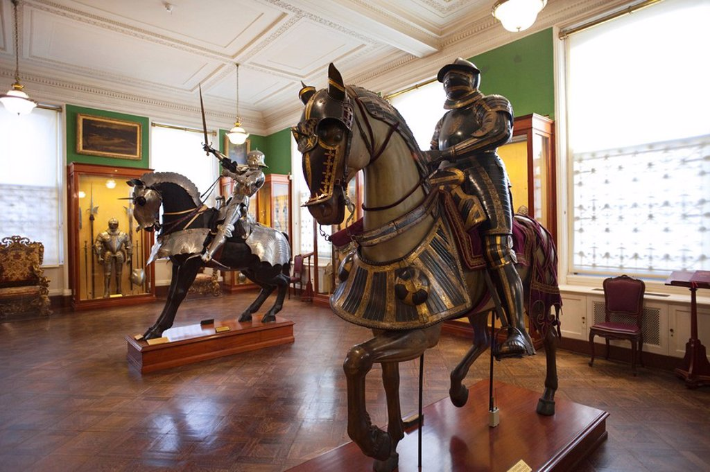 Stock Photo: 1609-42395 England, London, The Wallace Collection Art Gallery, Armoury Display