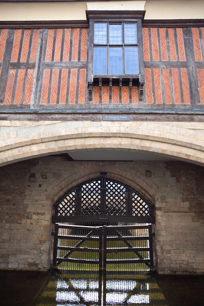 Stock Photo: 1609-42540 England, London, Tower of London, Traitors Gate