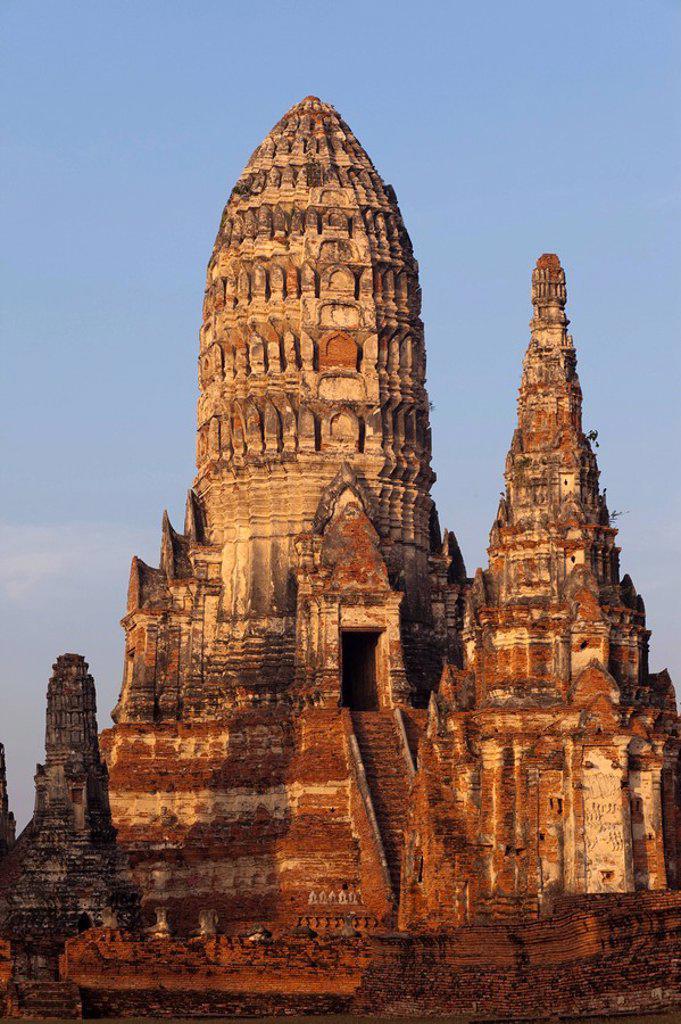 Thailand, Ayutthaya, Ayutthaya Historical Park, Wat Chai Wattanaram : Stock Photo