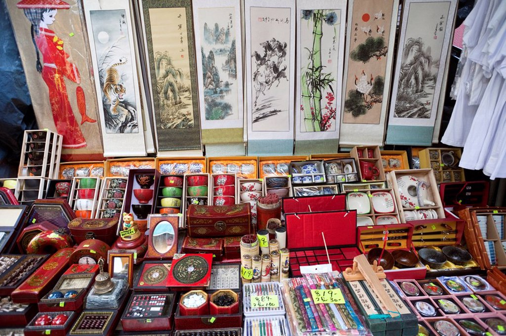 Stock Photo: 1609-42990 China, Hong Kong, Stanley Market, Calligraphy Store Display