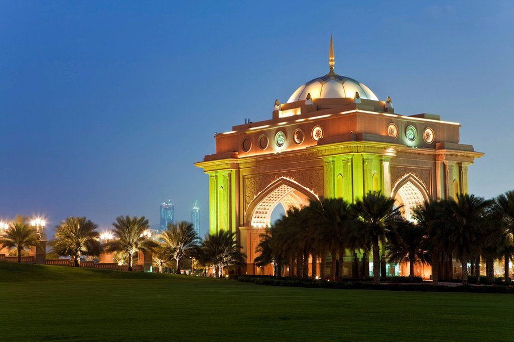 Stock Photo: 1609-43324 United Arab Emirates UAE, Abu Dhabi, Emirates Palace Hotel, VIP entrance