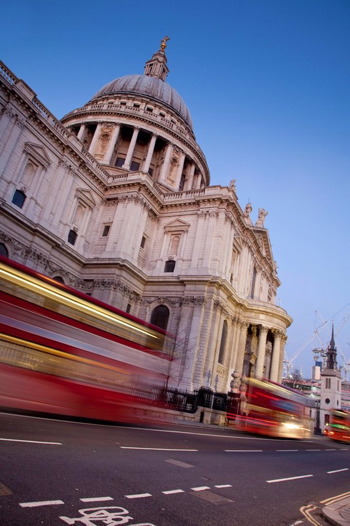 Stock Photo: 1609-43681 St. Paul´s Cathedral, London, England
