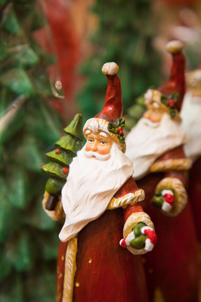 Stock Photo: 1609-43925 Santa decorations