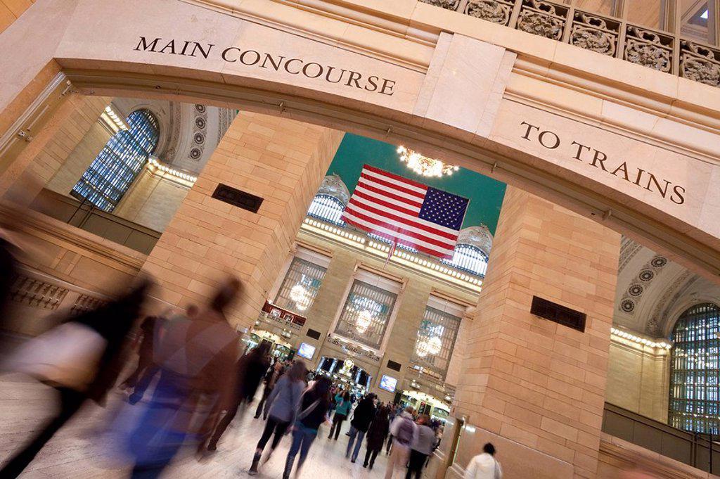 Stock Photo: 1609-44207 USA, New York City, Manhattan, Grand Central Station