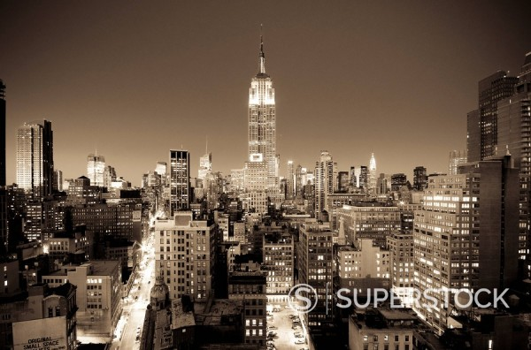 USA, New York, Manhattan, Midtown, Empire State Building : Stock Photo