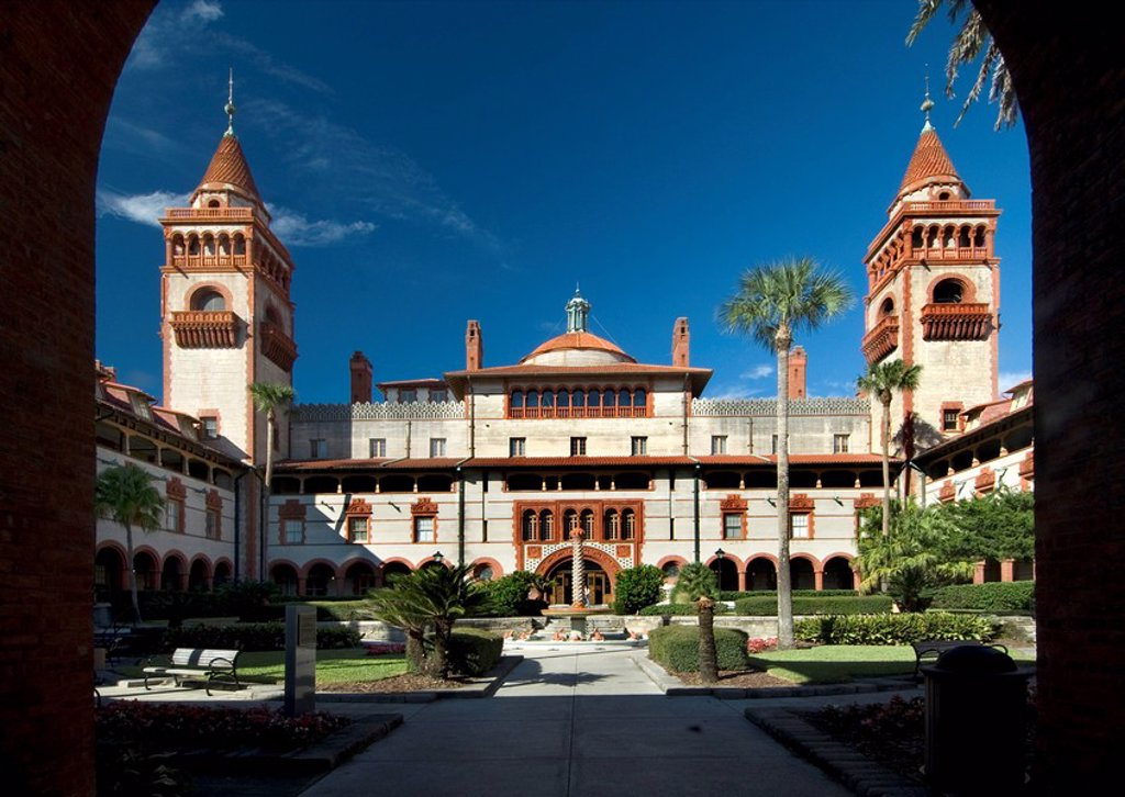 Stock Photo: 1609-44733 USA, Florida, Saint Augustine, Flagler College, Henry Flagler, Originally the Ponce de Leon Hotel, National Register of Historic Places