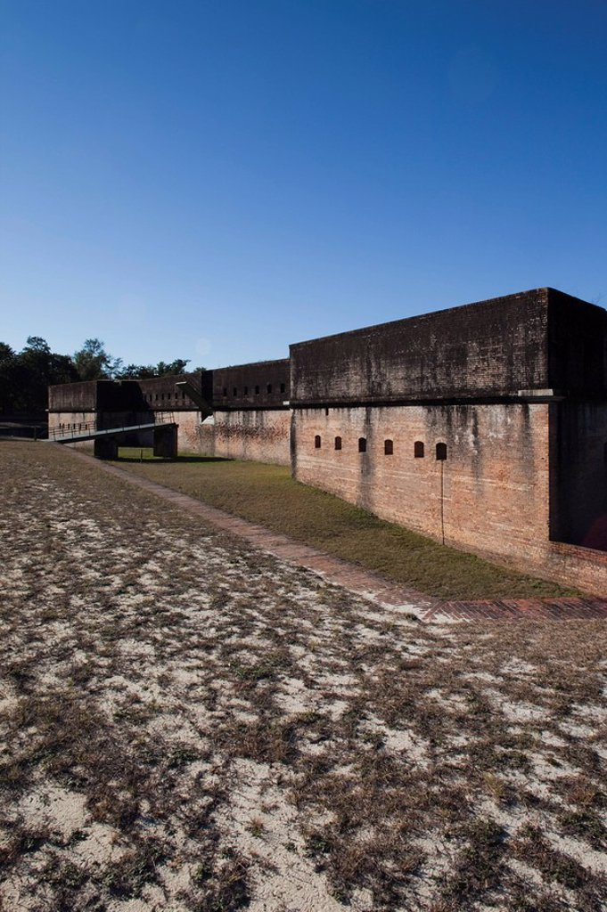 Stock Photo: 1609-44840 USA, Florida, Florida Panhandle, Pensacola, Advanced Redoubt, US Civil War_era fort