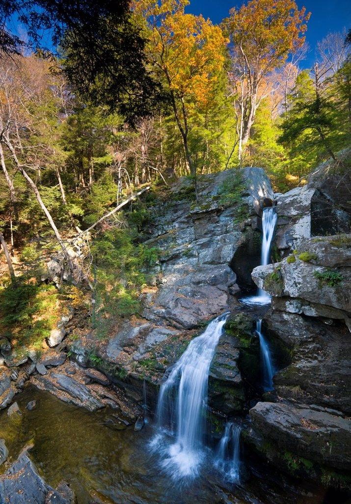 Stock Photo: 1609-44885 USA, Connecticut, Kent Falls