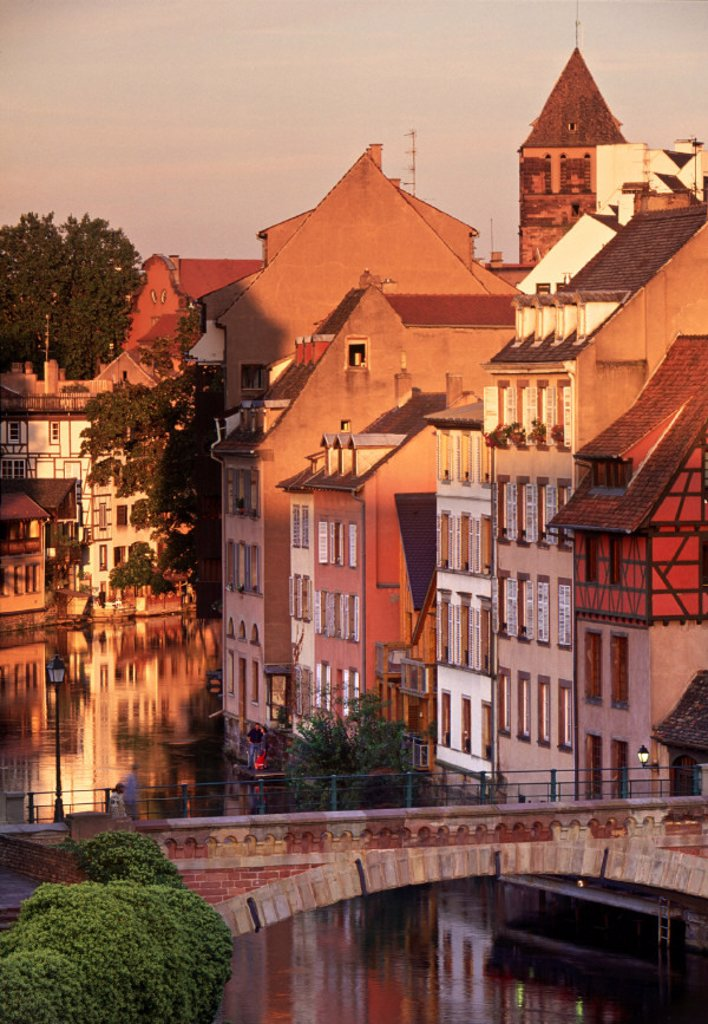 Stock Photo: 1609-4541 Ponts-Couverts, Strasbourg, Alsace, France