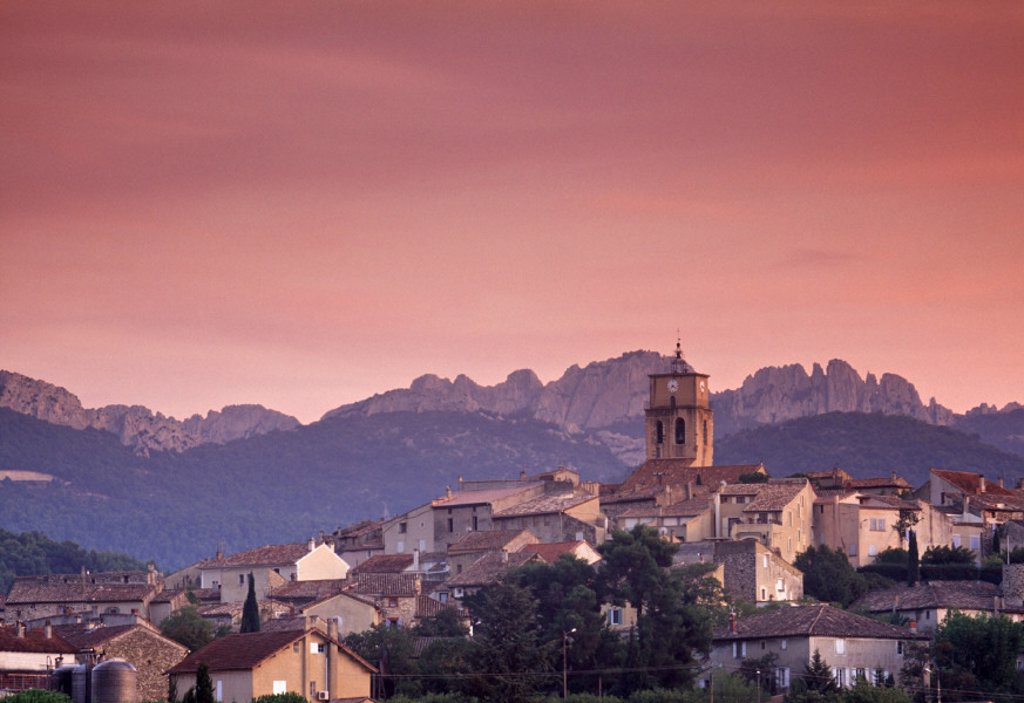 Tournon sur Rhone, Cote du Rhone, Drome, Rhone-Alpes, France : Stock Photo