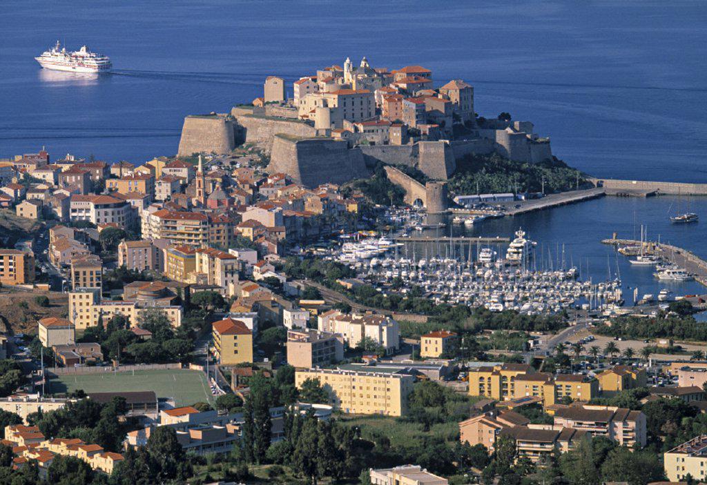 Stock Photo: 1609-4624 Calvi, Corsica, France