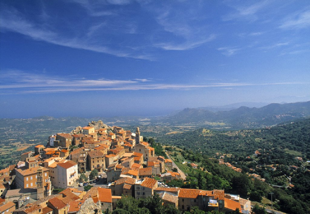 Stock Photo: 1609-4632 Speloncato, Corsica, France