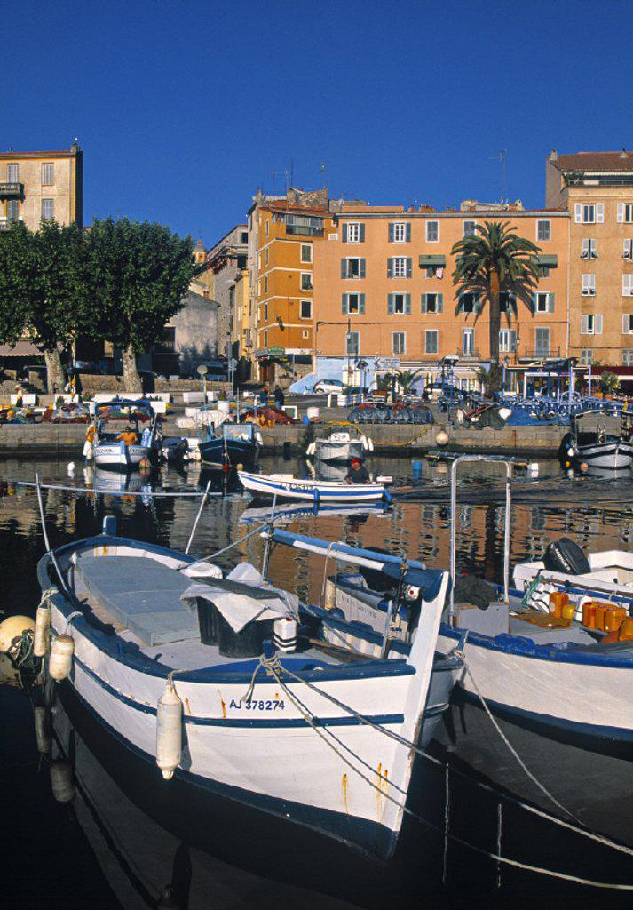 Stock Photo: 1609-4695 Tino Rossi Harbour, Ajaccio, Corsica, France
