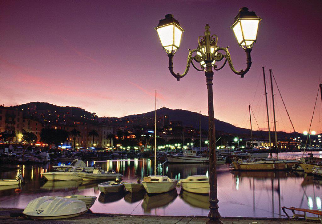 Tino Rossi Harbour, Ajaccio, Corsica, France : Stock Photo