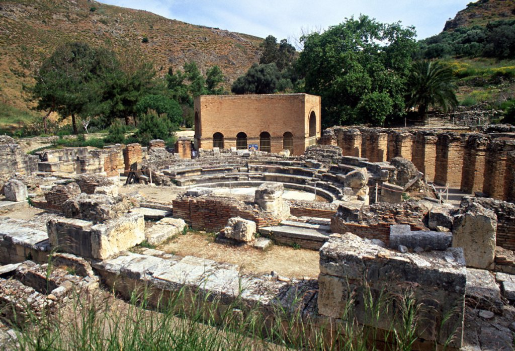 Stock Photo: 1609-4986 Gortys, Messara Plain, Iraklion Province, Crete, Greece