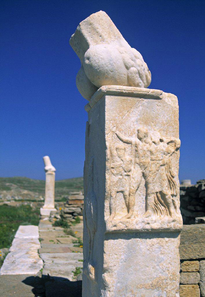 Delos, Nr. Mykonos, Greece : Stock Photo