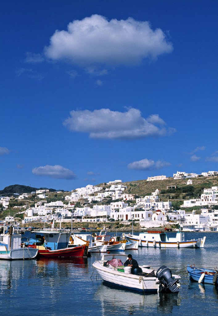 Mykonos Harbour, Mykonos, Greece : Stock Photo