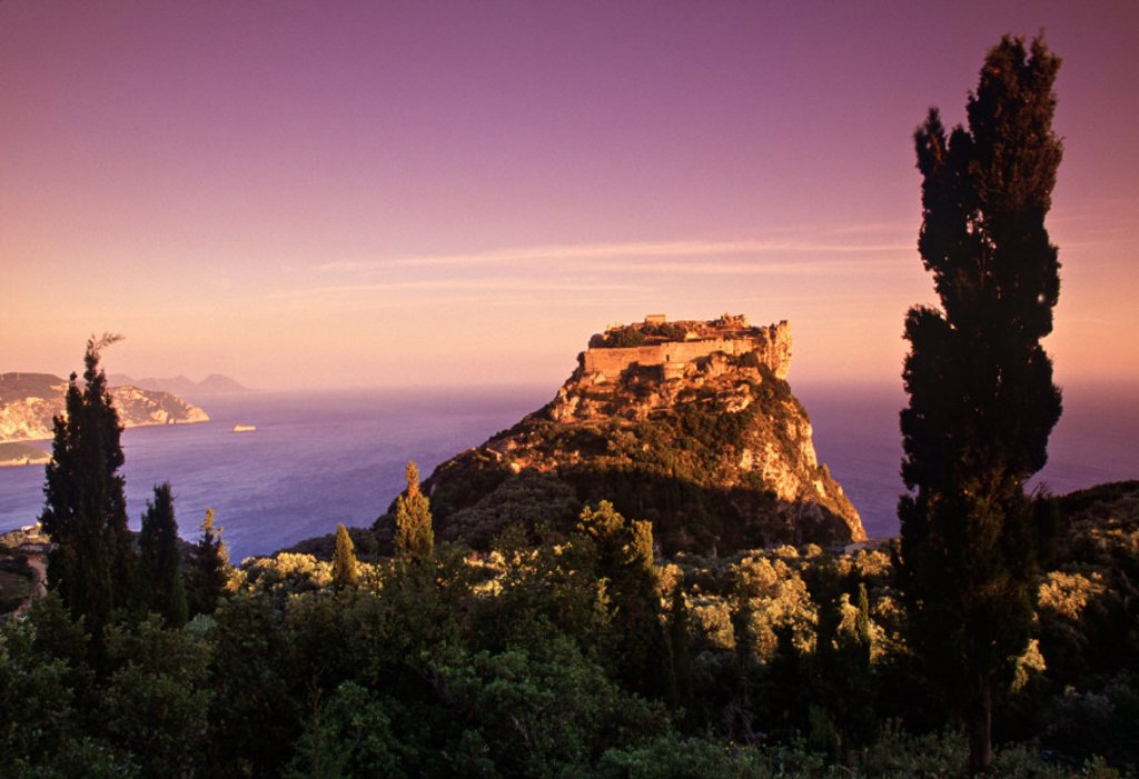 Stock Photo: 1609-5111 Angelokastro, Cape Falakro, Corfu, Greece