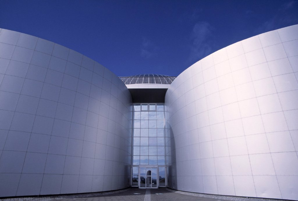 Stock Photo: 1609-5331 Perlan building (hot water storage), Reykjavik, Iceland