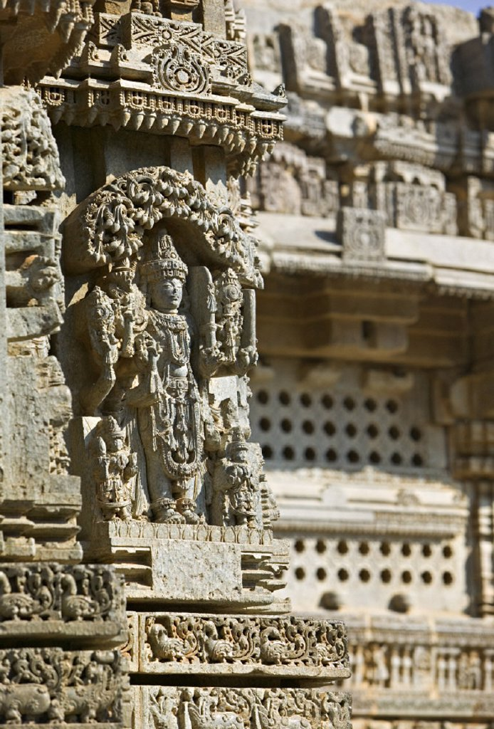 Stock Photo: 1609-6088 Keshava (Hoysala) Temple, Somnathpur, Karnataka, India