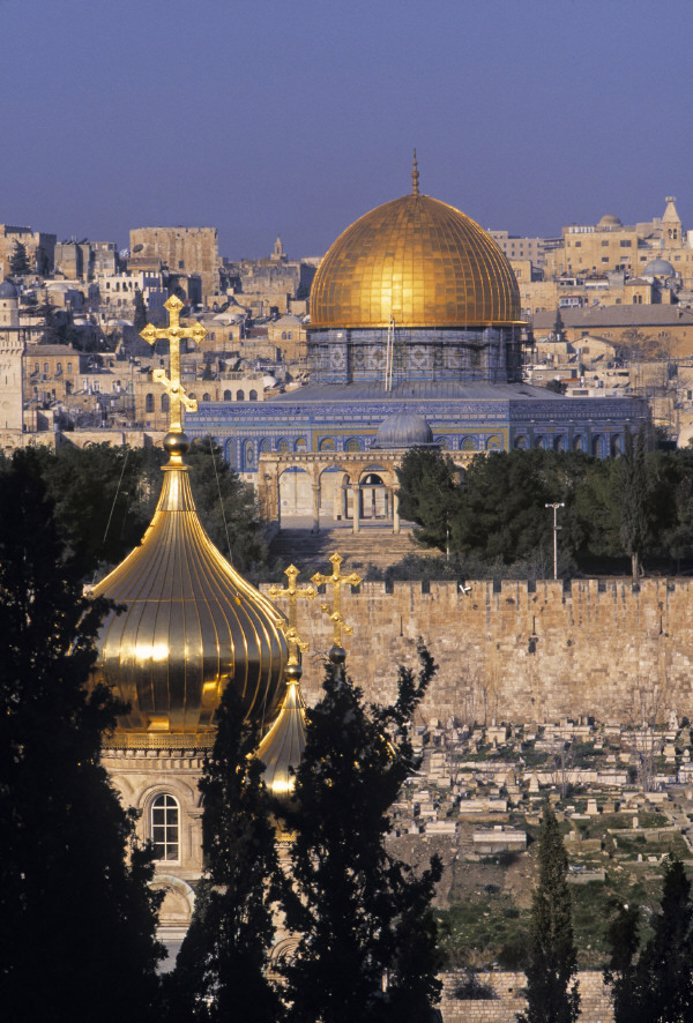 Stock Photo: 1609-6232 Dome of the Rock, Temple Mount, Jerusalem, Israel