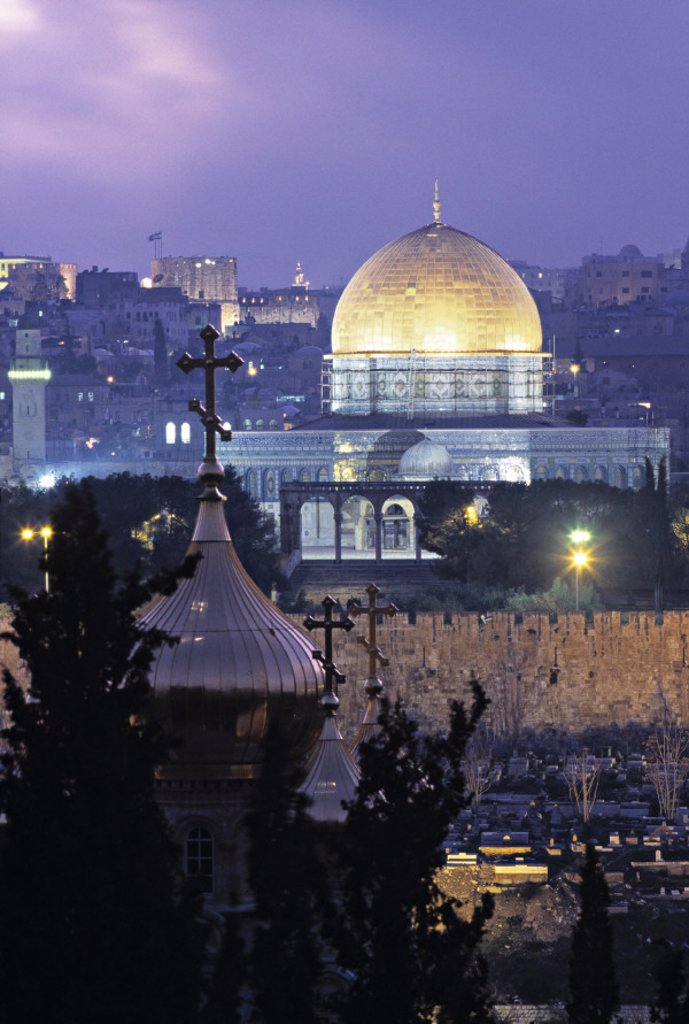 Stock Photo: 1609-6238 Dome of the Rock Jerusalem Israel