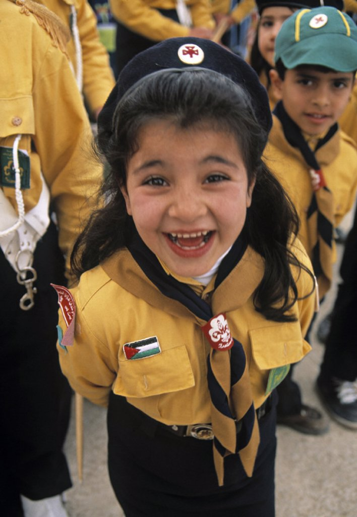 Stock Photo: 1609-6308 Palastinian girl scout, Bethlehem, Israel
