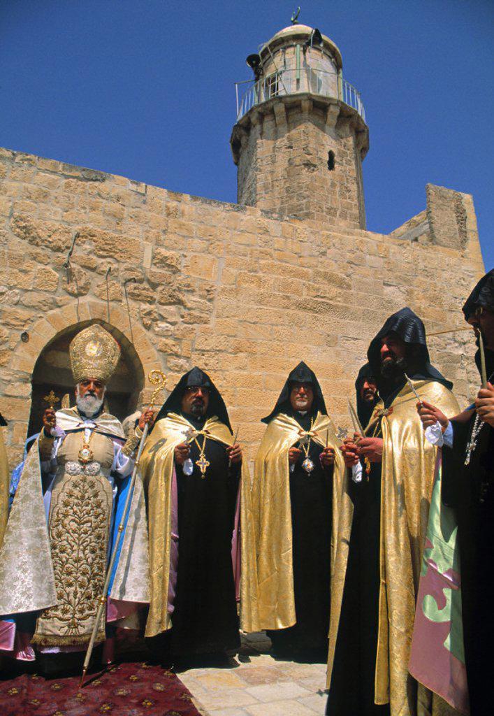 Stock Photo: 1609-6350 Armenian Ascension day ceremony, Mount of Olives, Jerusalem, Israel