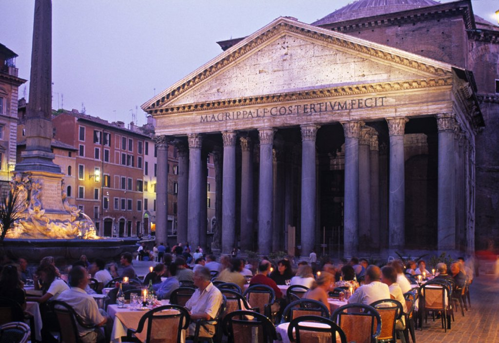 Stock Photo: 1609-6440 Piazza della Rotunda, Rome, Italy