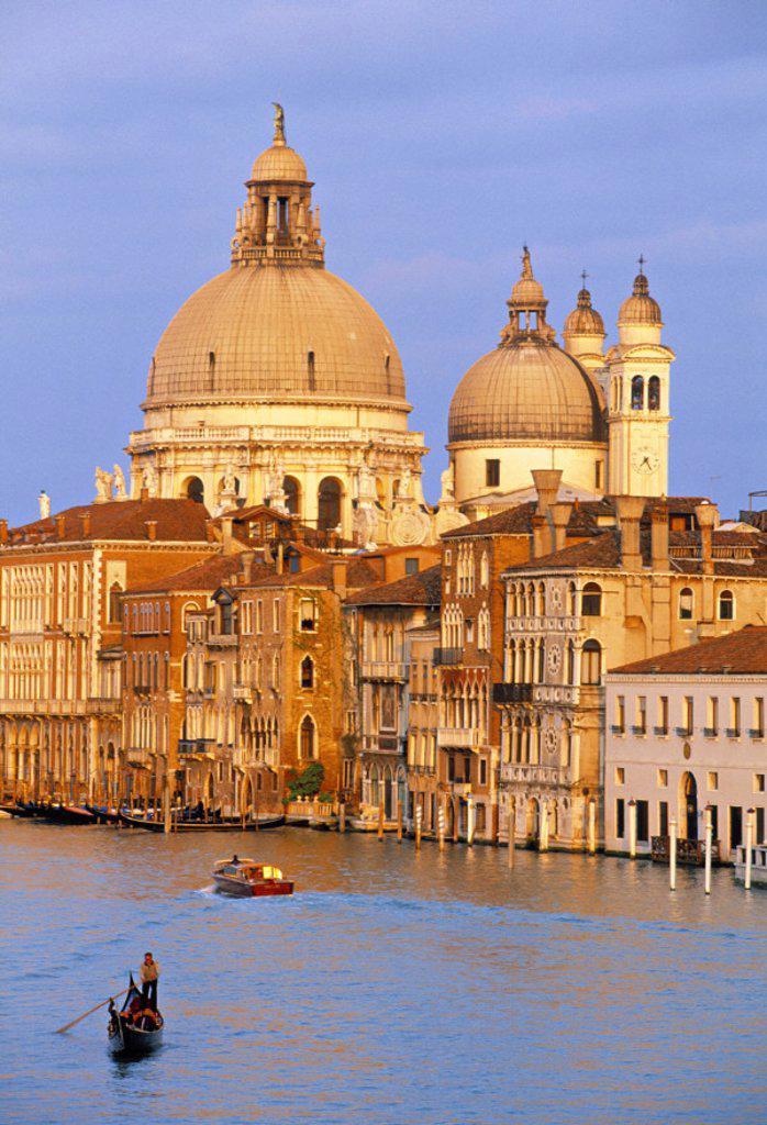 Santa Maria Della Salute, Grand Canal, Venice, Italy : Stock Photo