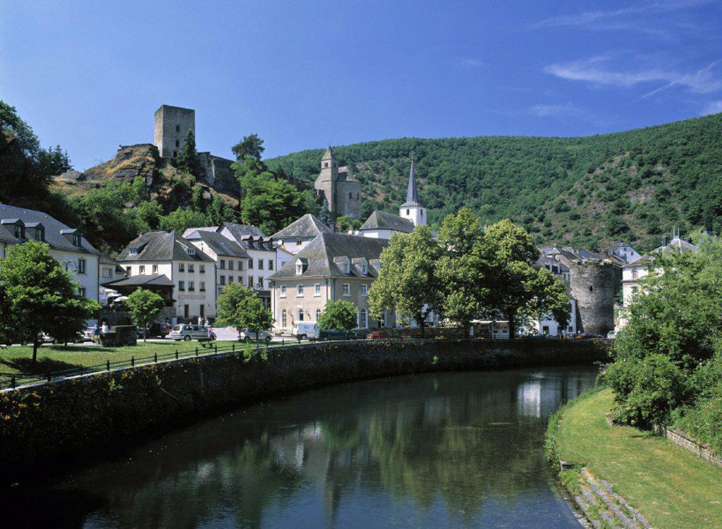 Stock Photo: 1609-7576 Esch-sur-Sure, Luxembourg