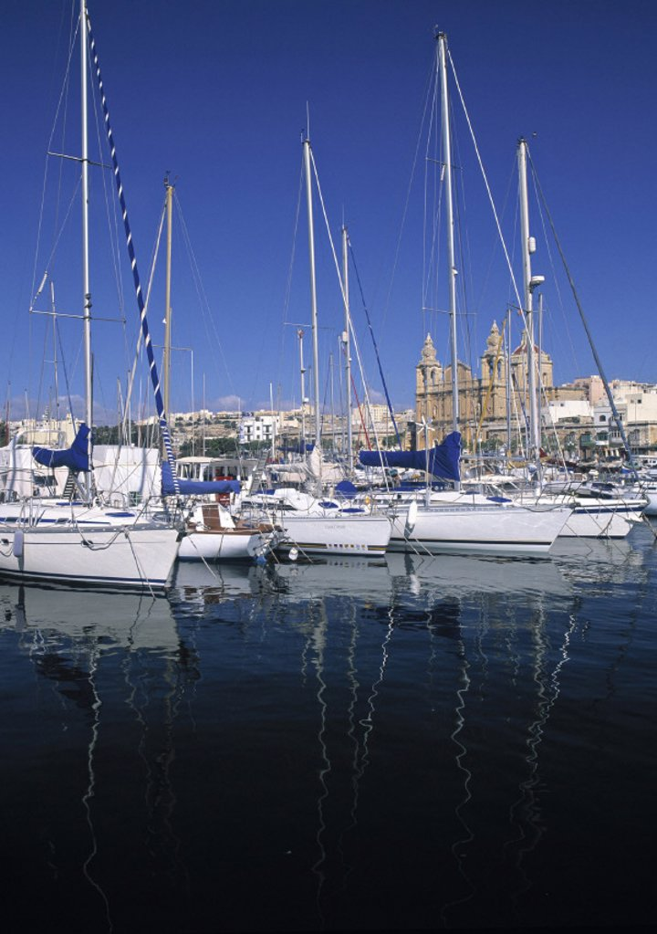 Stock Photo: 1609-7782 Msida Creek Yacht Marina, Malta