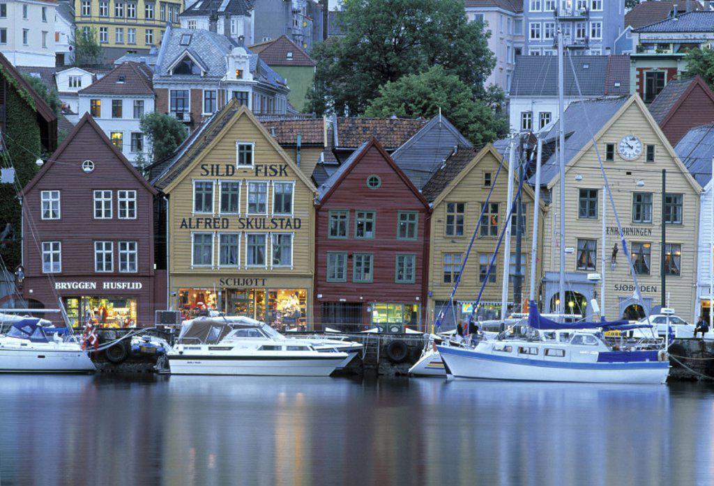 Waterfront, Bryggen, Bergen, Norway : Stock Photo
