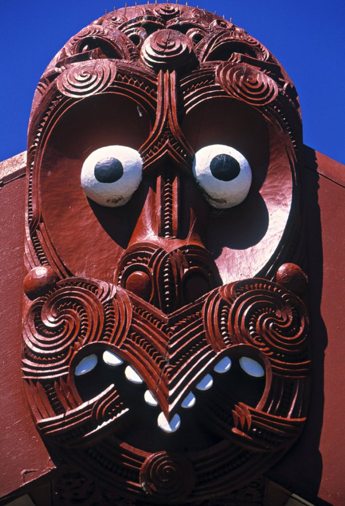 Stock Photo: 1609-8467 Carving, Hei Tiki, Maori, Rotorua, New Zealand