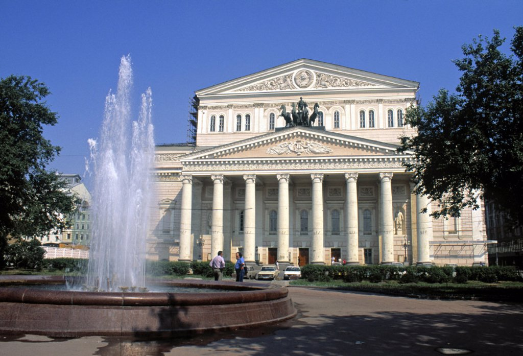Stock Photo: 1609-9112 Bolshoi Theatre, Moscow, Russia