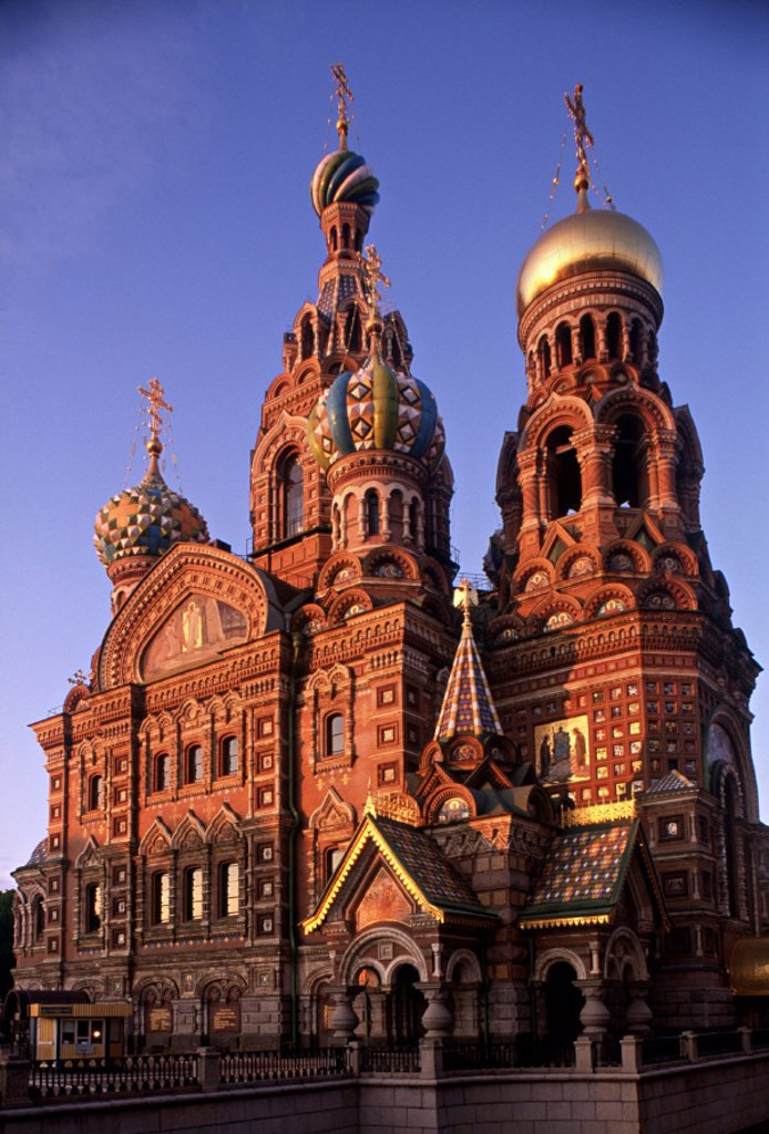 Stock Photo: 1609-9227 Church of the Resurrection, St. Petersburg, Russia