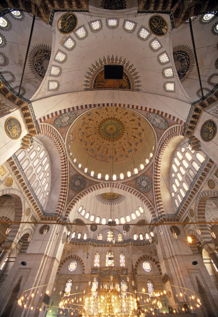 Stock Photo: 1609-9705 Suleymaniye Mosque, Istanbul, Turkey