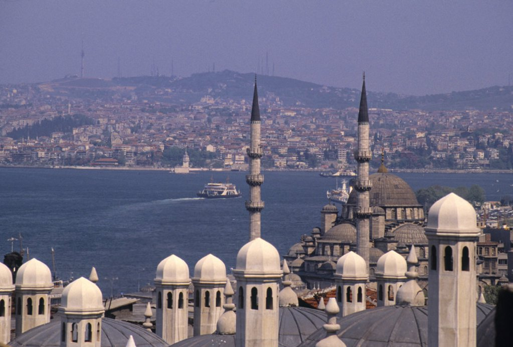 Stock Photo: 1609-9706 Suleymaniye Mosque, Istanbul, Turkey