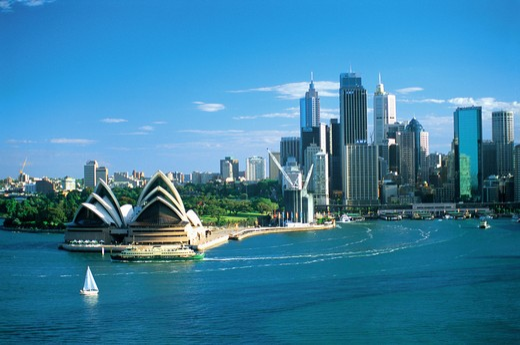 Stock Photo: 1609R-28140 Opera House, Sydney, New South Wales, Australia