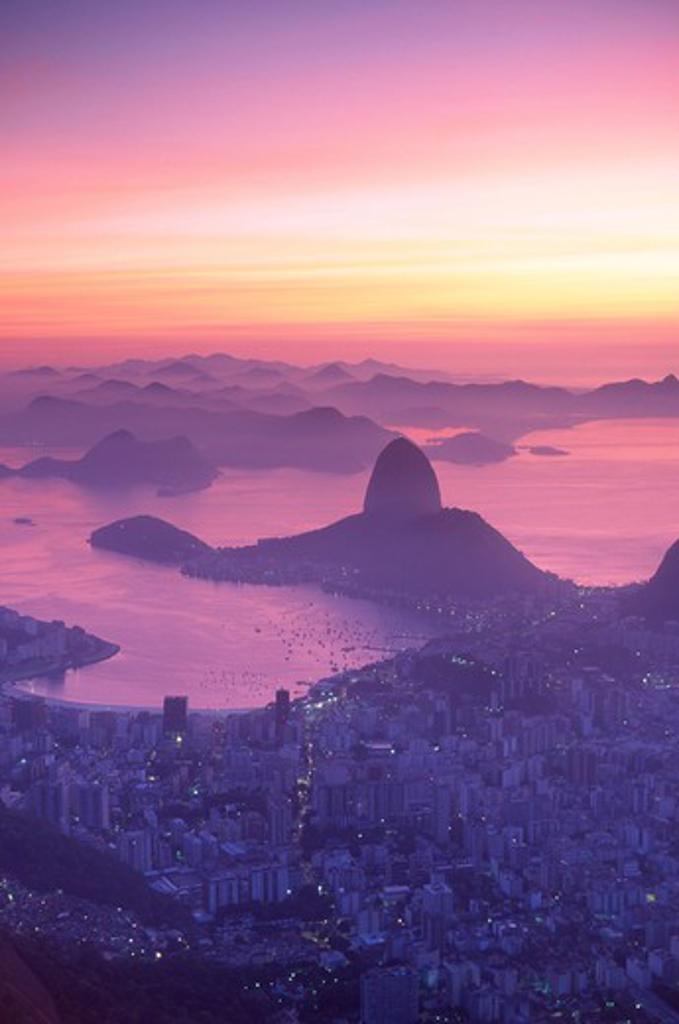 Stock Photo: 1609R-28414 Sugar Loaf Mountain, Rio de Janeiro, Brazil