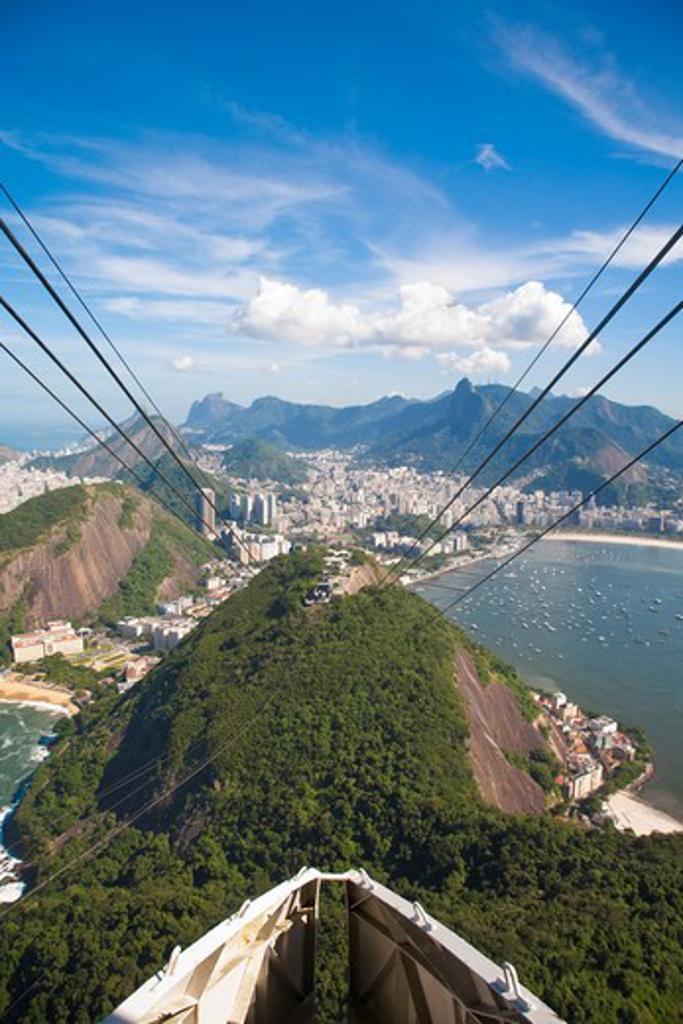Stock Photo: 1609R-28432 Brazil, Rio De Janeiro, Urca, Sugar Loaf Mountain