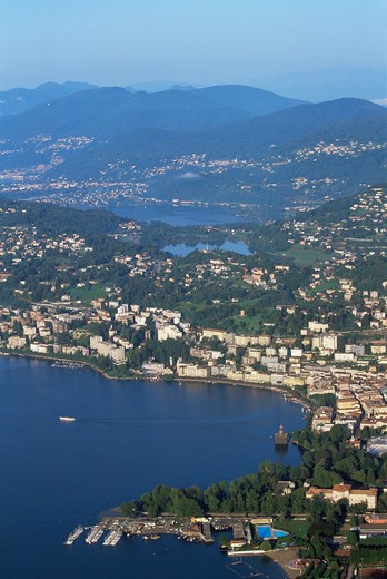Stock Photo: 1609R-28528 Lugano from Monte Bre, Ticino, Switzerland