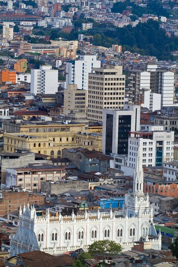 Stock Photo: 1609R-28667 Colombia, Caldes, Manizales, Manizales city centre and Iglesia de Immaculada Conception