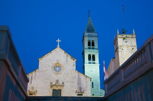 Stock Photo: 1609R-28868 Croatia, Central Dalmatia, Brac Island, Supetar, Church of the Annunciation (b.1733)