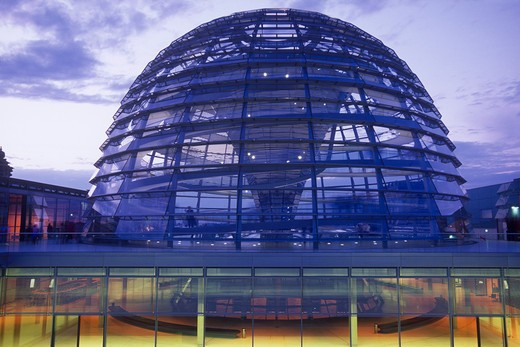 Dome of the The Reichstag (Parliament), Berlin, Germany : Stock Photo