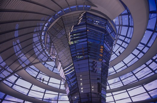 Stock Photo: 1609R-28942 Dome of the The Reichstag (Parliament), Berlin, Germany