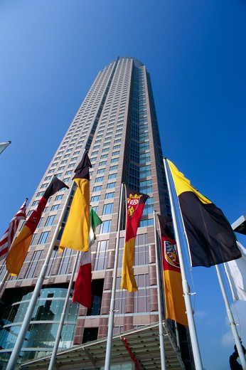Stock Photo: 1609R-28998 Messe Tower (Messeturm), Frankfurt am Main, Hessen, Germany